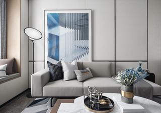 89平现代三居装修效果图