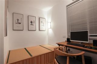 日式风三居室书房装修效果图