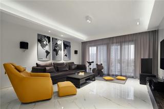 现代简约风三居室客厅装修效果图