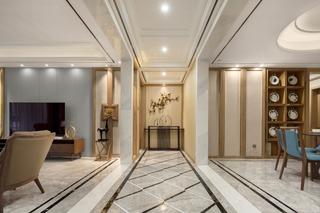 大户型新中式走廊装修效果图