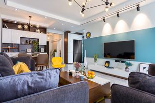 现代北欧两居室装修效果图