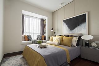 89m²现代三居卧室装修效果图