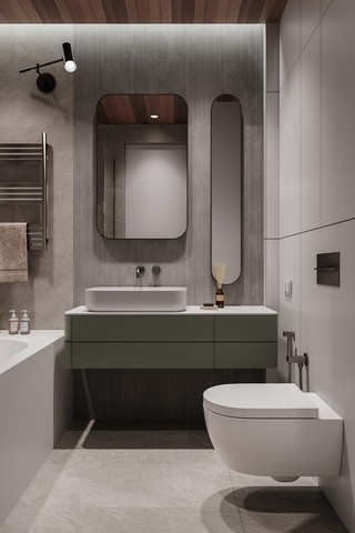 现代极简公寓卫生间装修效果图