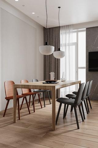 现代极简公寓餐厅装修效果图