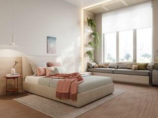 现代极简三居卧室装修效果图