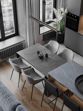 现代简约公寓餐厅装修效果图