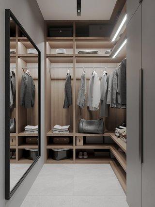 现代简约公寓衣帽间装修效果图