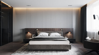 110m²现代风卧室装修效果图