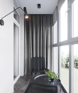 110m²现代风阳台装修效果图