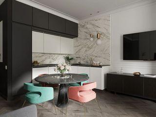 64平米公寓厨餐厅装修效果图