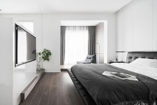 大户型现代极简风卧室装修效果图