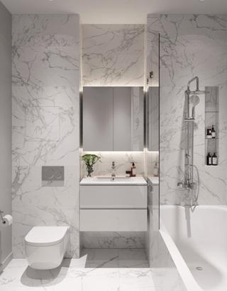 62㎡现代公寓卫生间装修效果图