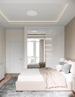 62㎡现代公寓卧室装修效果图