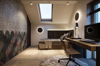 110m²现代轻奢书房装修效果图