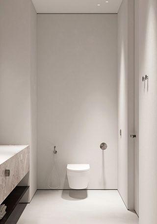 极简风公寓卫生间装修效果图