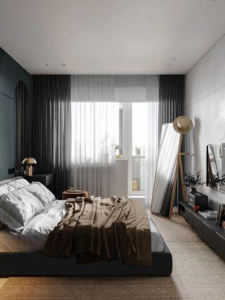 78平现代风卧室装修效果图