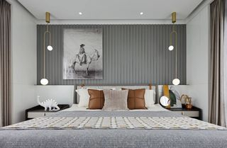 轻奢现代别墅卧室装修效果图