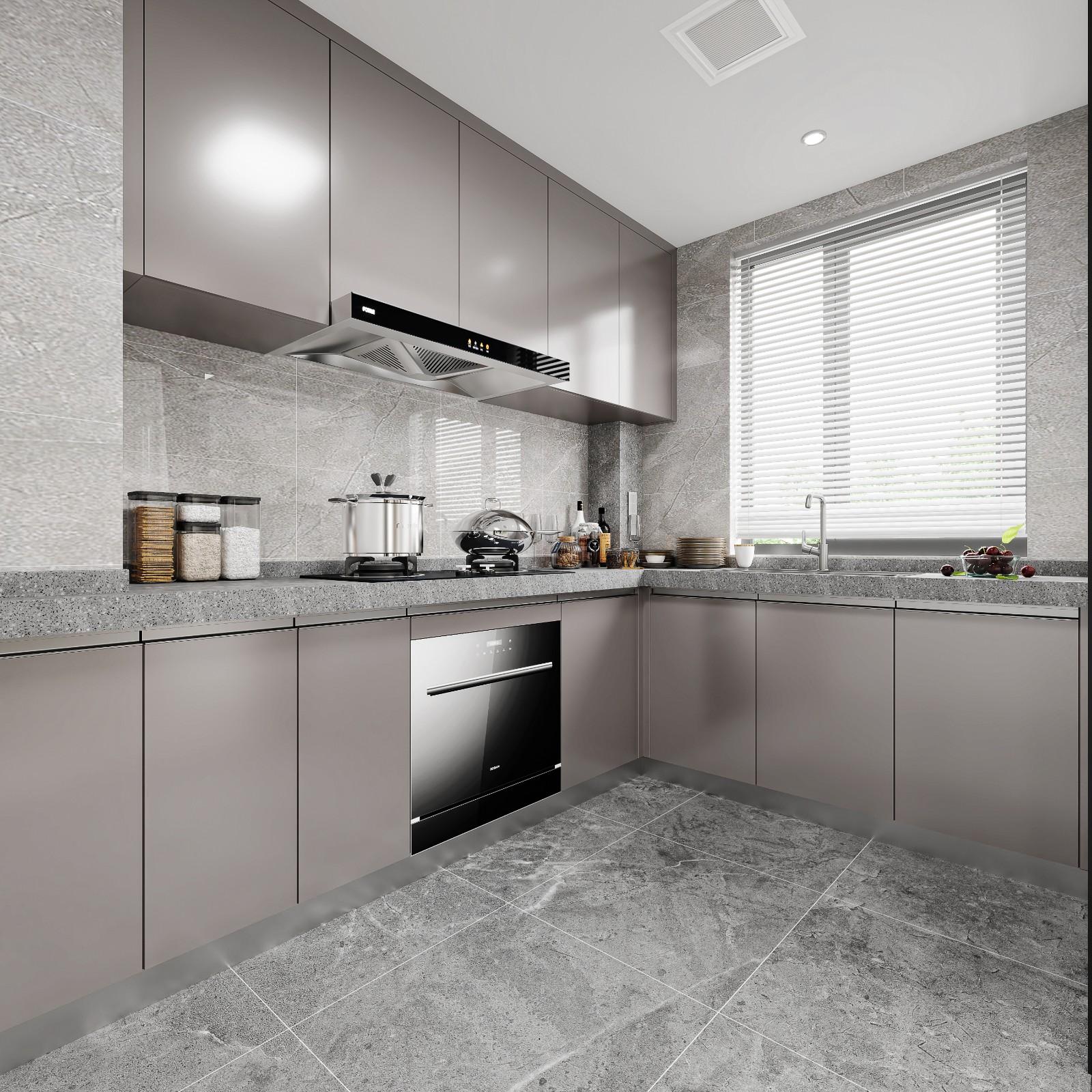 新中式样板间厨房装修效果图