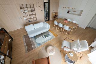 120m²日式风客餐厅装修效果图