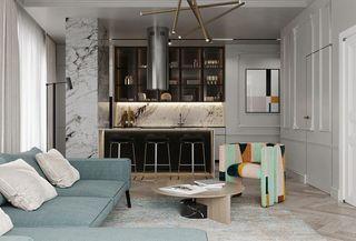 60平米公寓客厅装修效果图