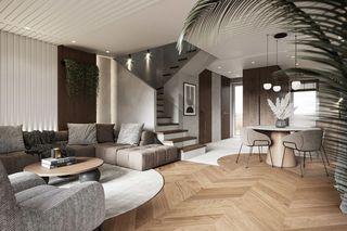 120m²现代风客餐厅每日首存送20