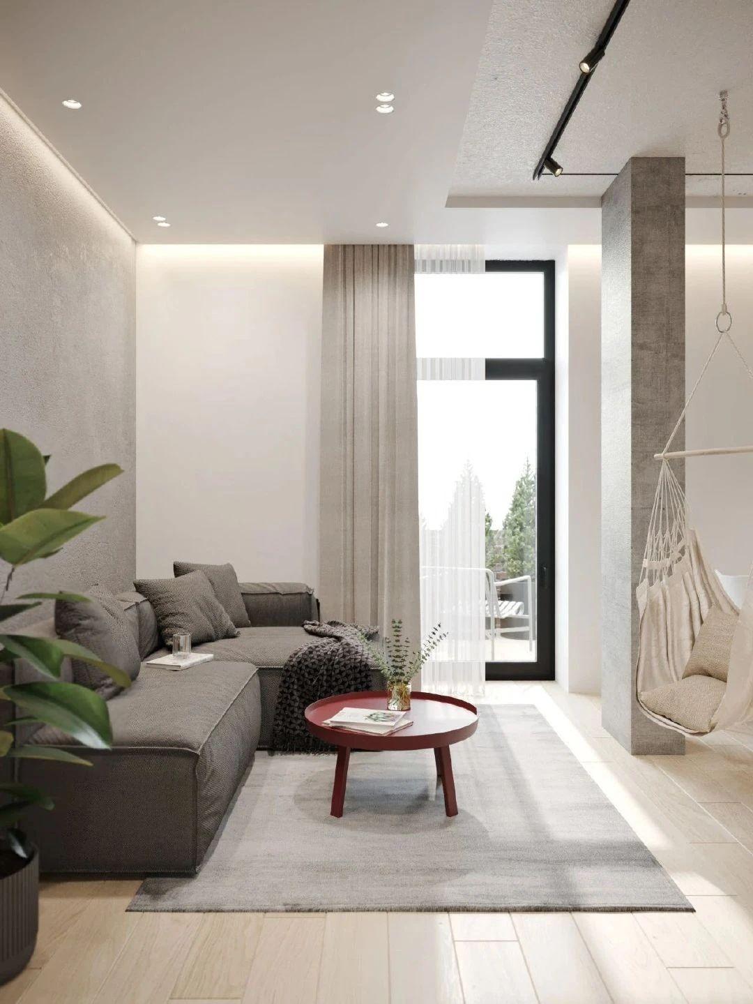 36㎡小公寓客厅装修效果图