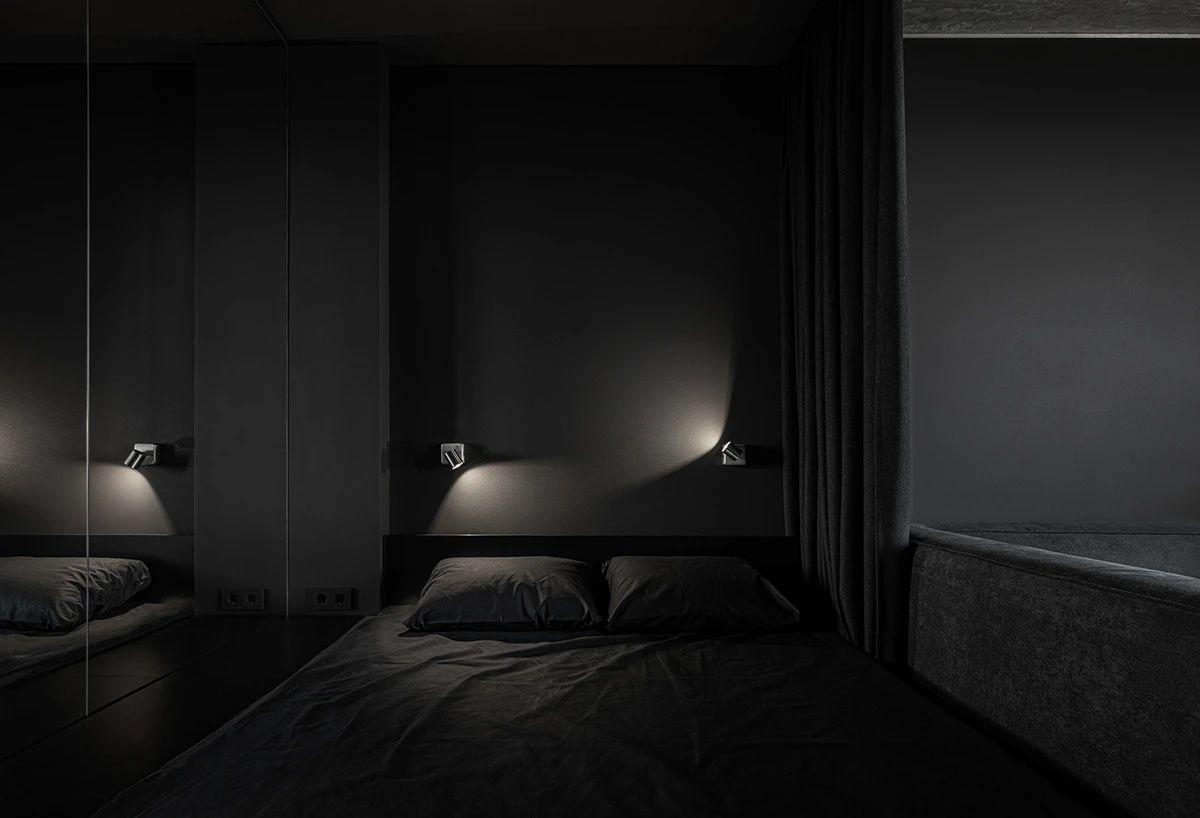 黑色系小户型卧室装修效果图