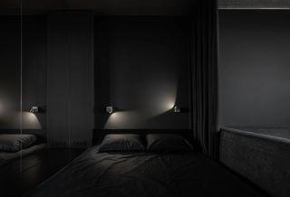 黑色系小戶型臥室裝修效果圖