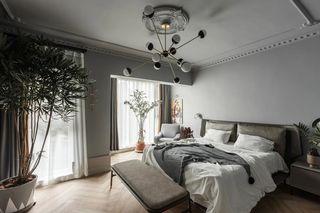 简约复古别墅卧室装修效果图