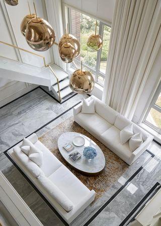 大户型现代法式客厅装修效果图