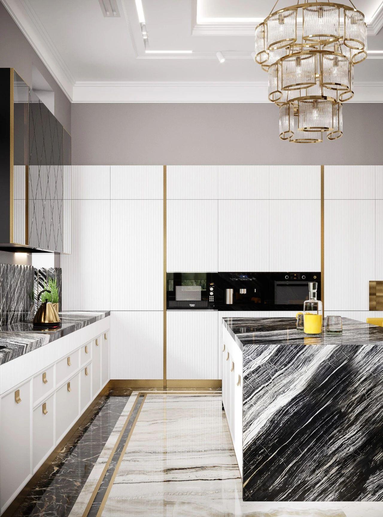 奢华别墅厨房装修效果图