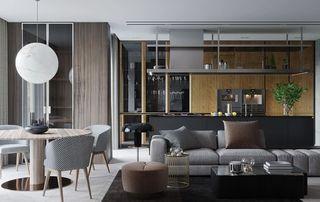 現代風兩居室裝修效果圖