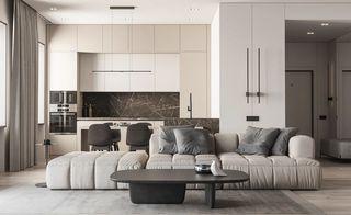 92平簡約現代公寓裝修效果圖